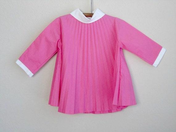 vintage mod baby dress 24 months