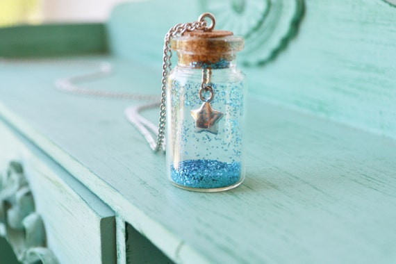 Starry Night - Glass Bottle Necklace