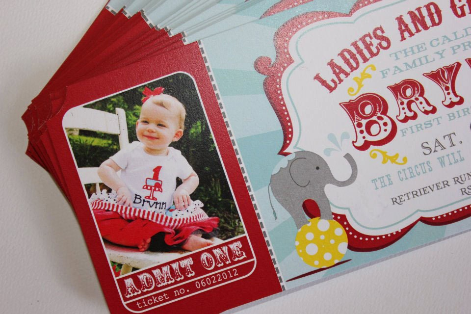 Circus Birthday Party Invitations gangcraftnet