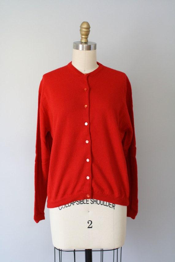 Jantzen cardigan / 60s Cardigan / CLASSIC RED Jantzen cardigan M L