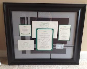 CUSTOM Framed Wedding Invitation Suite