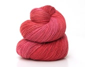 bamboo yarn, lace weight / crochet size 10, hand dyed