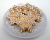 Mini Gold Snowflake Cookies