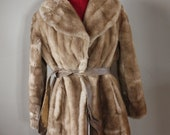 CUTE SNOW BUNNY faux fur mink coat