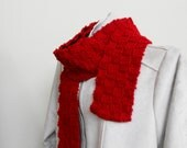 Red Handmade Extra Long Scarf
