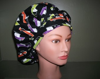 Halloween bouffant scrub cap