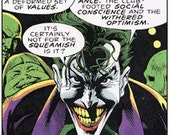 RESERVED FOR LONESTARJ: custom comic book joker dread bead