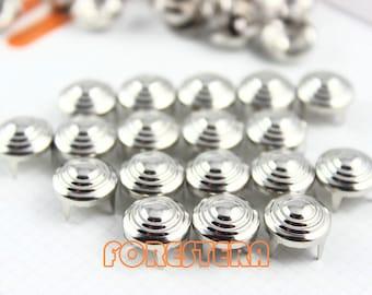 200Pcs 11mm Silver CONE Studs Metal Studs (SLX11)