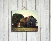 Old Barn - Canvas Wrap - 16x20 - Fall decor - Autumn decor - Old Barn photo - Old Barn photography - Autumn