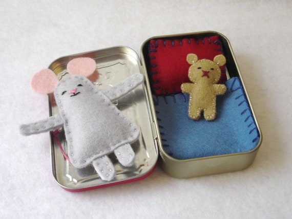 Custom Wee Mouse in Altoids Tin House - made to order