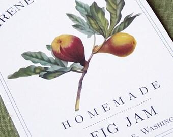 Fig Canning Label or Sticker, set of 18