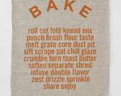 Linen Tea Towel - Bake