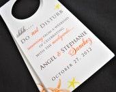 Destination Wedding Door Hangers - Hotel Door Hangers - Wedding Guest Door Tags - Wedding Welcome Bags