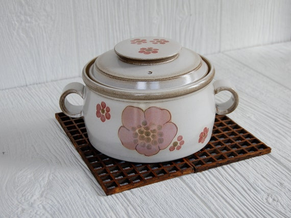 Vintage Denby Gypsy Covered 1 Quart Casserole Baking Dish
