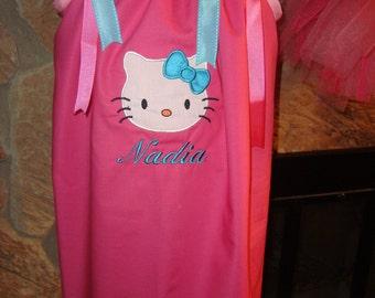 Personalized Kitty Pillowcase Dress
