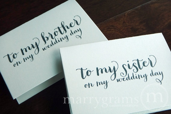 Wedding Present For Brother And Sister In Law : ... Cards - Brother-in-Law or Sister-in-Law Wedding Note (Set of 2) CS02