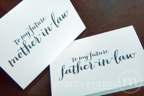 Future Mother In Law Gifts: Wedding Card To Your Future Mother And Father In-law