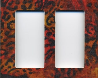 Animal Print Double Decora Light Switch Plate