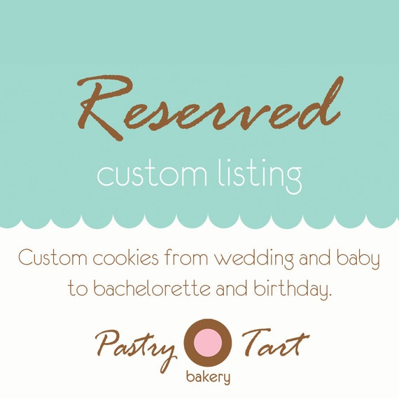 RESERVED for Eneida V. // 108 Sea Shell Starfish & Sand Dollar Beach Theme Wedding Cookie Favors Aqua // Wedding Shower