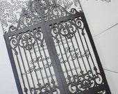 "Laser cut scrollwork gatefold - ""Old Philly"""