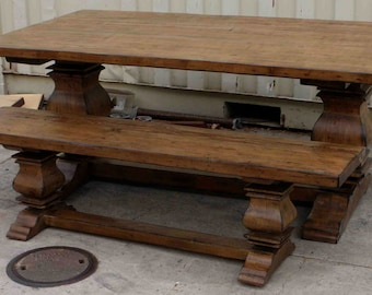 Superb Anaheim Trestle Dining Table And Bench  Sold Separately