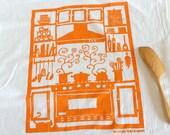 Flour Sack Dish Towel - Kitchen: Steel Blue or Steel Blue