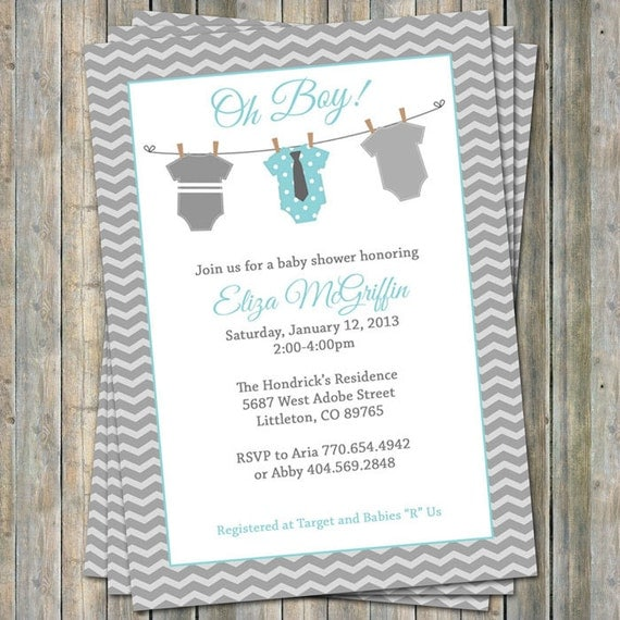 onesie baby shower invitation oh baby shower aqua and gray digital