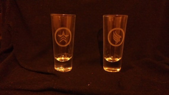 Mass Effect Paragon and Renegade Tall Shot Glasses Set