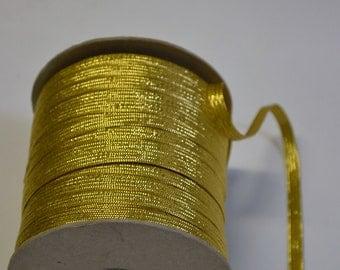 "1/4"" Gold Metalic Braid"