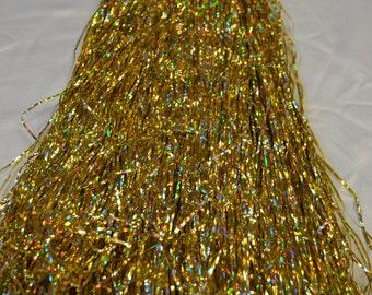 Mylar Fringe Gold Hologram 18 Inches Long