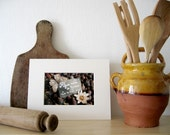 Rustic french kitchen wall art Provence figs food brown beige purple photography -  Delicious -   fine art print 5 x 7