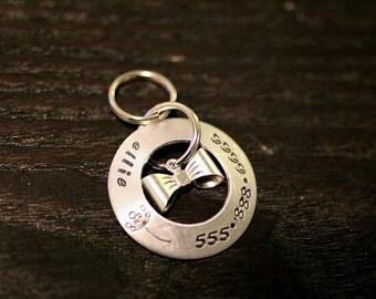 Custom Pet ID Tag - The Jonas in Brass / Aluminum / Copper