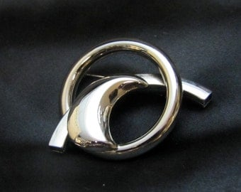 1940's Modernist Chrome Brooch