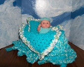 Crocheted Purse/Crib and Berenger Baby Doll
