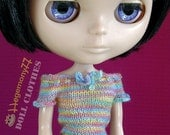 Hand knitted doll top for: Blythe, Pullip, Momoko...