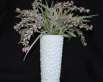 "Vintage Milk Glass Vase 7 1/2"" High"