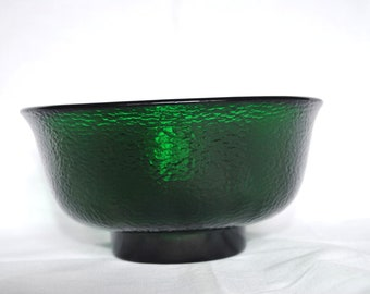 Vintage Forest Green Textured Bowl