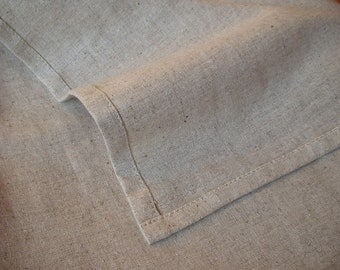 SALE Full Double Flat Sheet Linen Flax Cotton blend Natural Oatmeal color - Washed Rough Rustic Lightweight - Ready to Ship