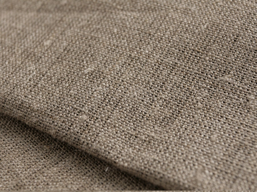 Linen Flax Fabric Artist Canvas Natural Undyed Unbleached