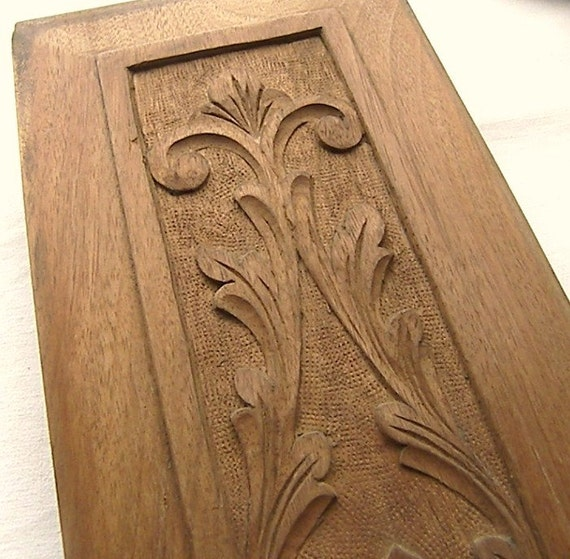 Antique Oak Panel, Architectural Salvage Hand Carved Oak Panel.  Country Farmhouse Home Decor, Wall Hanging, Collectable