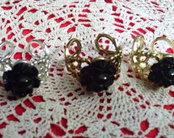 Gothic Black Rose Ring (Choose Color)