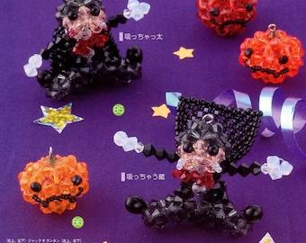 3D Pumpkin and Magician Swarovski Beads Beading Pattern PDF