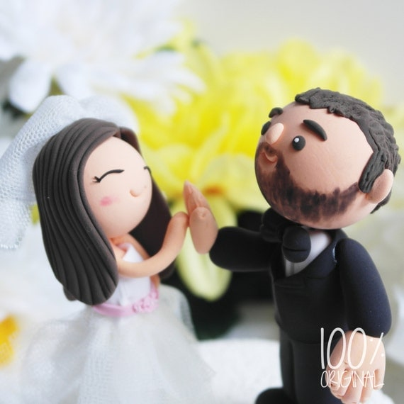wedding cake toppers high five custom wedding cake topper high five 26493