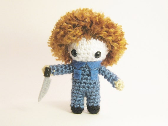 Amigurumi Eyes Michaels : Michael Myers Halloween Crochet Amigurumi by chubbyninjacrafts