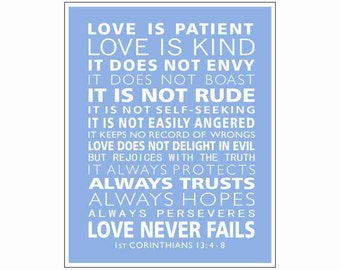 Corinthians Love Quotes Interesting 1St Corinthians 13  Etsy