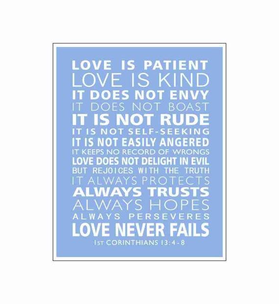 1st Corinthians 13 Love Is Patient Christian By DoodleGraphics
