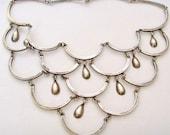 Vintage Los Ballesteros Tear Drop Necklace