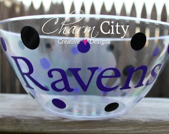 Baltimore Ravens Inspired Personalized Snack/popcorn bowl