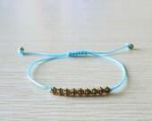 Brass beads Single String  Bracelet