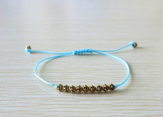 Brass beads Single String  Bracelet
